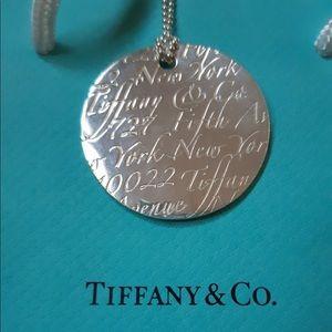 Genuine Tiffany & Co. Pendant and chain.